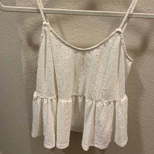 Selling this super cute white tank.